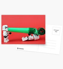 Lego Storm trooper birthday surprise Postcards