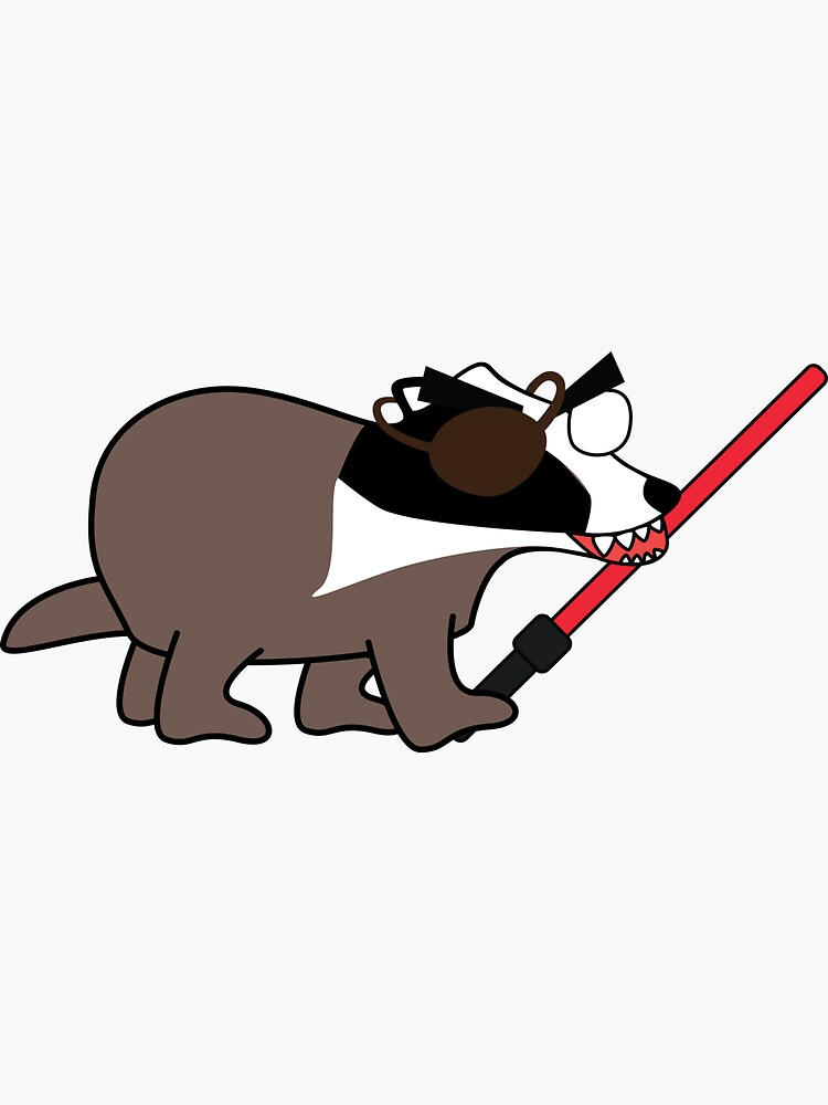 zombie pirate badger wielding a light saber by shortstack