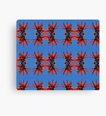 Coral Tree flower pattern Canvas Print