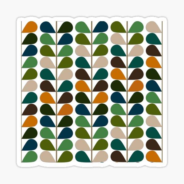 Retro 60s Mid Century Modern Pattern 2 Sticker