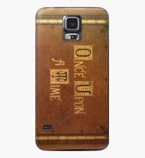 Es war einmal - große Text Cover Hülle & Klebefolie für Samsung Galaxy