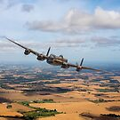 Home stretch: Lancaster over England by Gary Eason