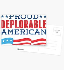 Proud Deplorable American (Trump 2016) Postcards