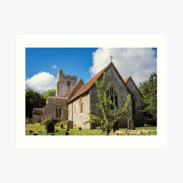 The parish church of Saint Cosmas and Saint Damian Art Print