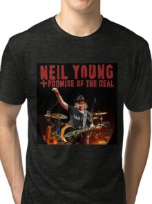 best music poster neil young promise real Tri-blend T-Shirt