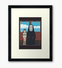 No Face Train Framed Print
