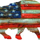 Wild Boar Pig USA Merica by Statepallets
