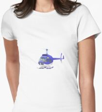 Big City Vehicles - Lion Pilot Flying Helicopter  Womens Fitted T-Shirt