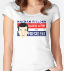 Nathan Fielder for President (Nathan for You) Women's Fitted Scoop T-Shirt