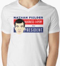 Nathan Fielder for President (Nathan for You) Men's V-Neck T-Shirt