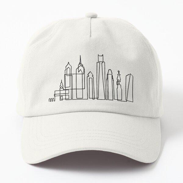 Philadelphia Skyline in onedraw Dad Hat