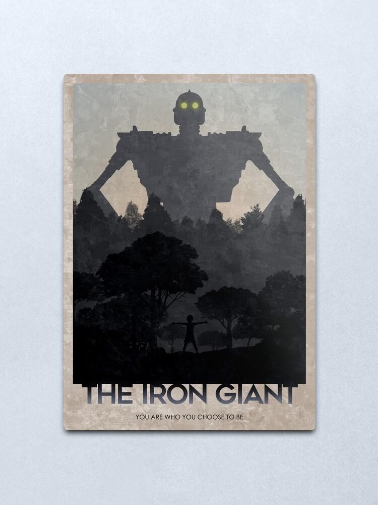 Alternate view of Iron Giant Metal Print