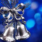 Christmas decoration with silver bells  by dariazu