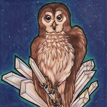 Owl & Crystals by wingsofjudas