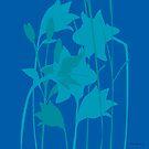 Lilien in Blau von rauschsinnig