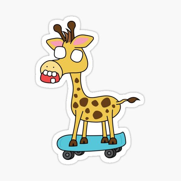 zombie giraffe on a skateboard Sticker