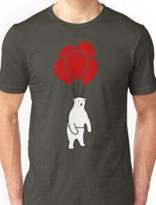 Polar Bear and Balloons  Unisex T-Shirt