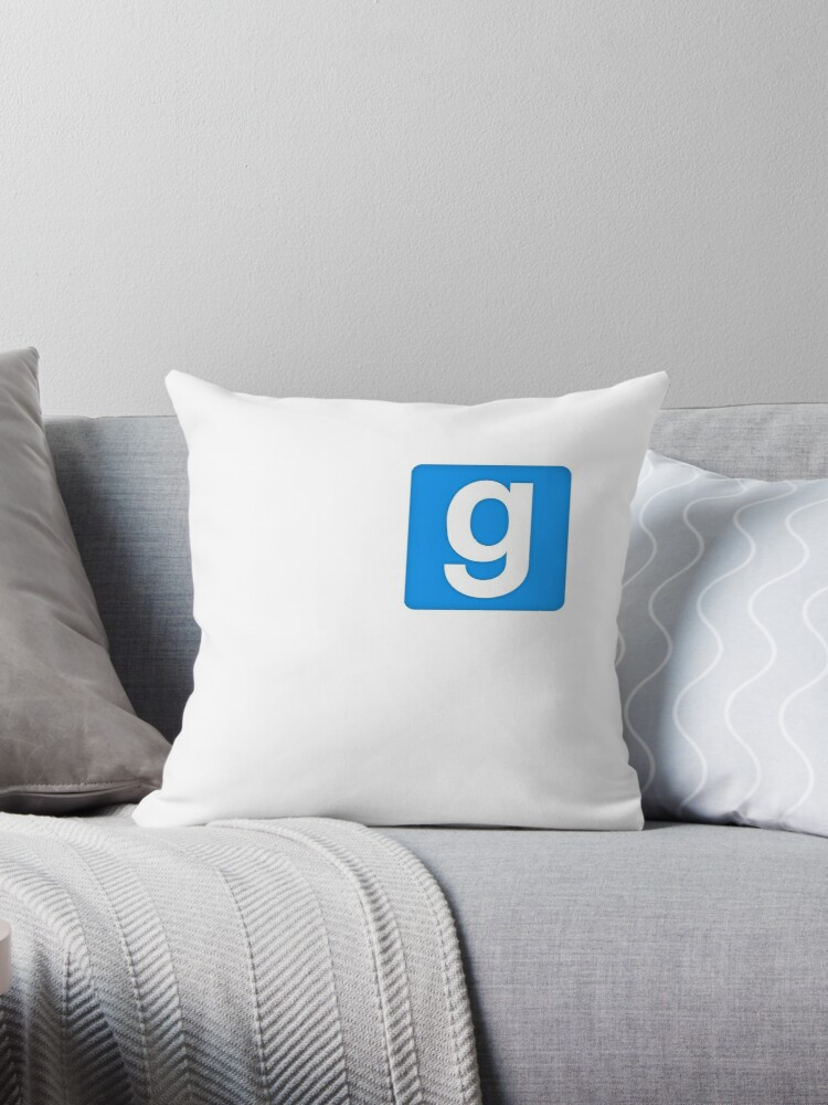 'Garry's Mod Logo' Throw Pillow by hossahunter22