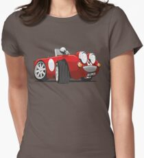 Austin Healey Sprite caricature red Women's Fitted T-Shirt