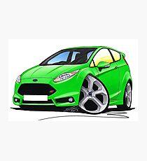 Ford Fiesta (Mk7) ST Green Photographic Print
