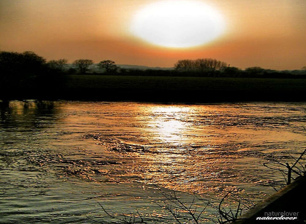 Sunset Over The Stour -Dorset by naturelover