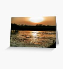 Sunset Over The Stour -Dorset Greeting Card