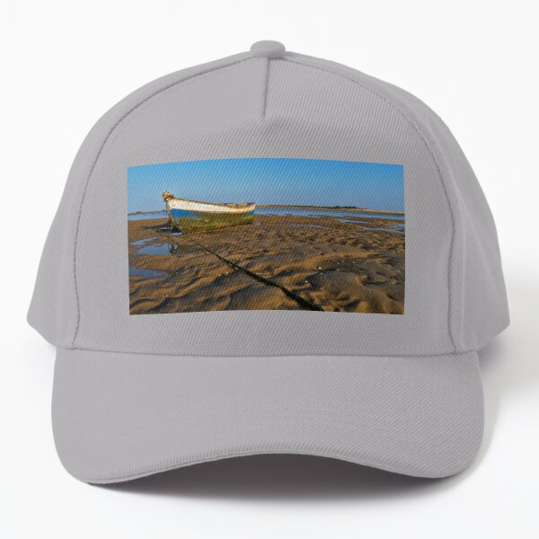 Old Fishing Boat and Low Tide Baseball Cap