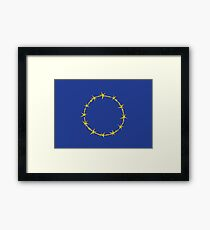 Barbed European Union Framed Print