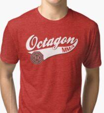 Camiseta de tejido mixto Logo octágono de béisbol