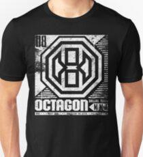 Camiseta ajustada Octagon MMA Press Logotipo