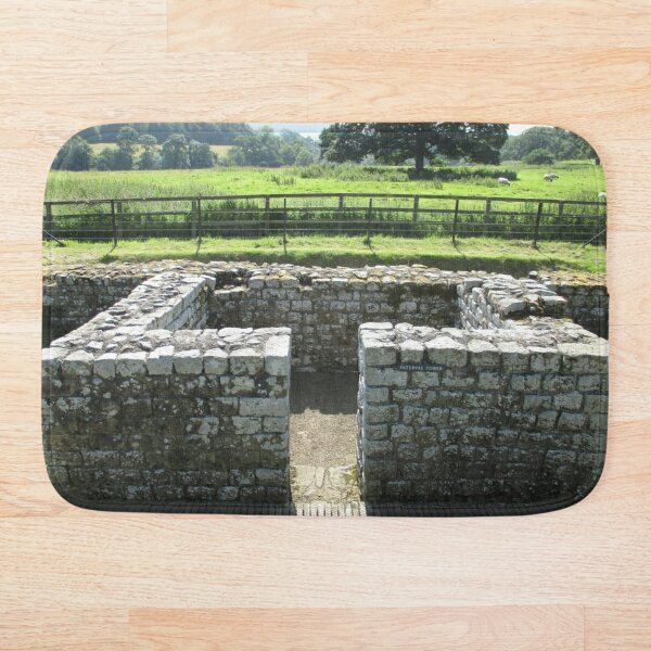 M.I. #124 |☼| INTERVAL TOWER (Hadrian's Wall) Bath Mat