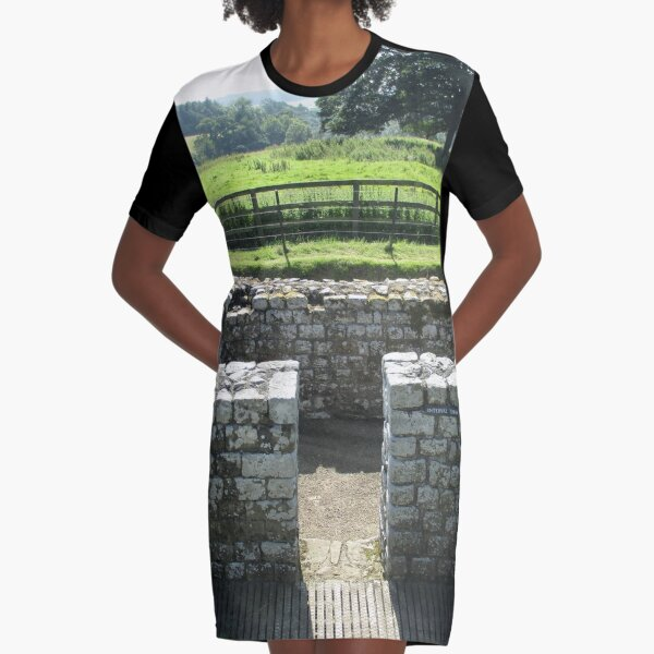 M.I. #124 |☼| INTERVAL TOWER (Hadrian's Wall) Graphic T-Shirt Dress