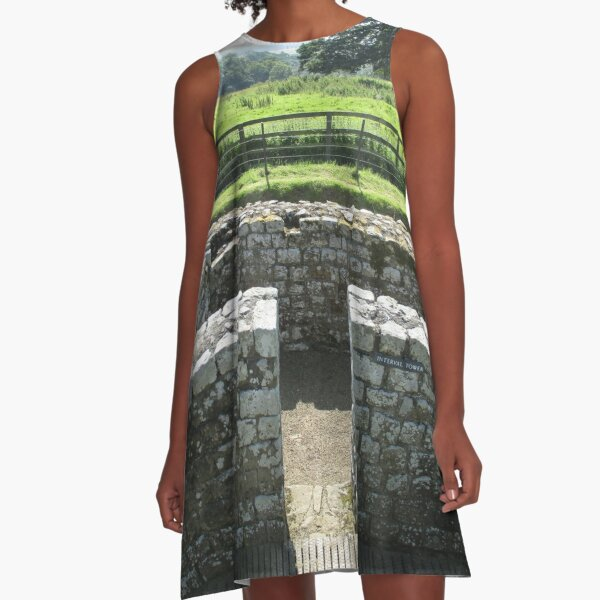 M.I. #124  ☼  INTERVAL TOWER (Hadrian's Wall) A-Line Dress