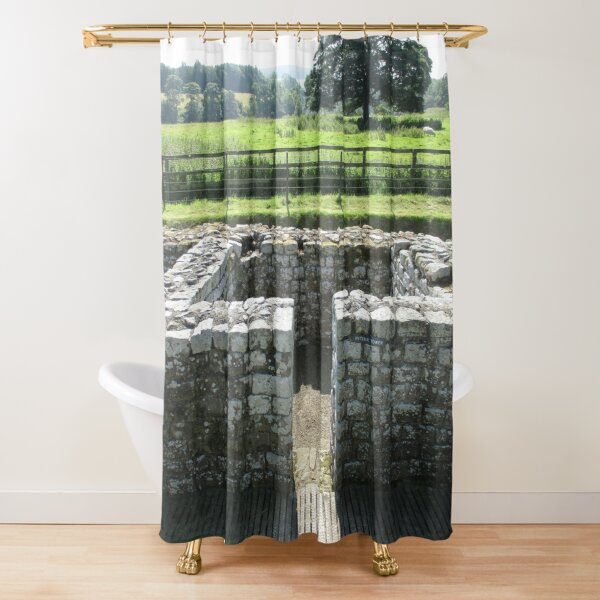 M.I. #124  ☼  INTERVAL TOWER (Hadrian's Wall) Shower Curtain