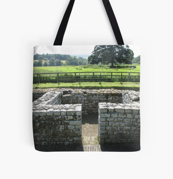 M.I. #124 |☼| INTERVAL TOWER (Hadrian's Wall) All Over Print Tote Bag