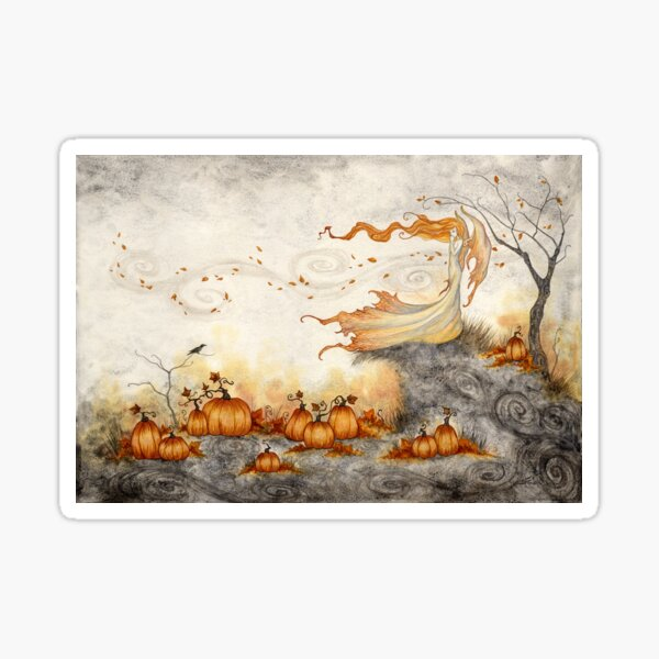 Whispers in the Pumpkin Patch Sticker