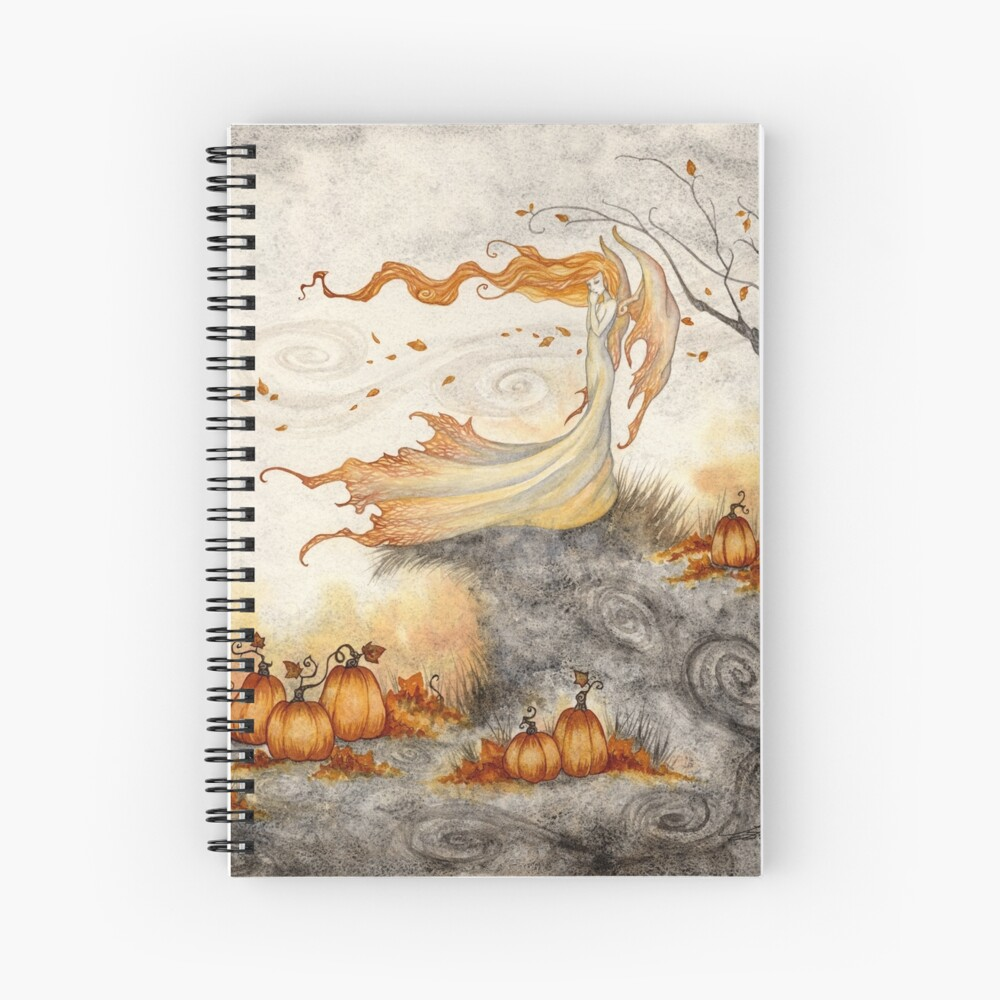 Whispers in the Pumpkin Patch Spiral Notebook