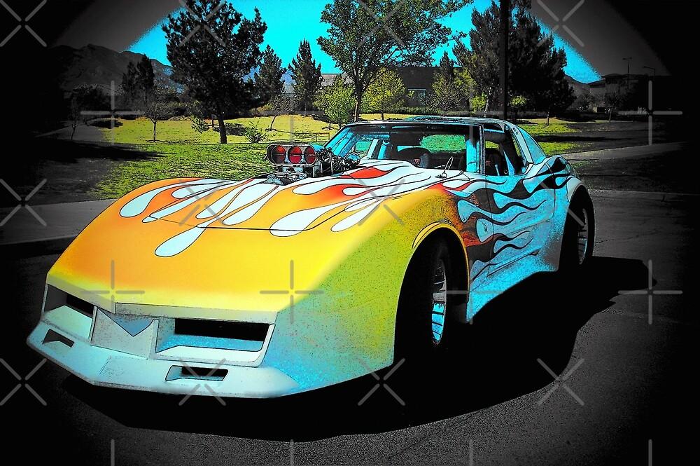 1,000 Horse Power Corvette Rocket... by Rita  H. Ireland