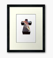 JUSTICE - WOMAN CROSS Framed Print