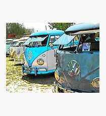 Surfs up and the VW-Bus Photographic Print