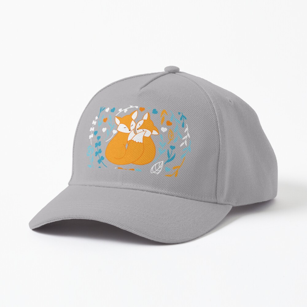 Foxes in love - Blue Cap