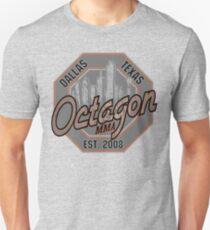 Camiseta ajustada Octagon MMA Skyline Logotipo