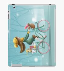 Girl riding a bike iPad Case/Skin