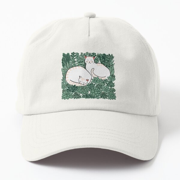 Cats in a succulent garden Dad Hat