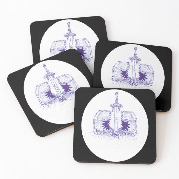M.I. #125  ☽  Chest Pain Coasters (Set of 4)