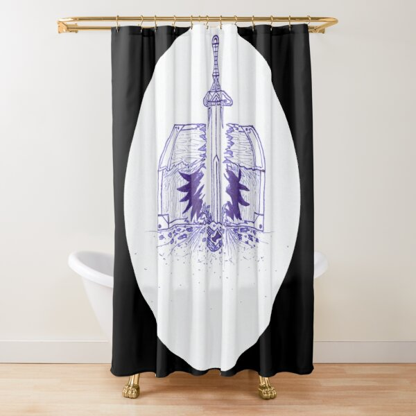 M.I. #125  ☽  Chest Pain Shower Curtain