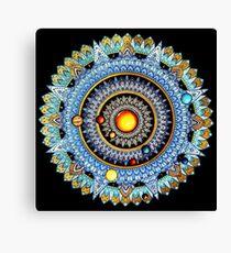 Solar System Mandala Canvas Print