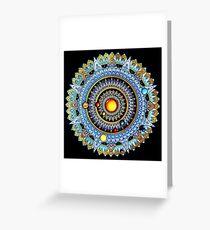 Solar System Mandala Greeting Card