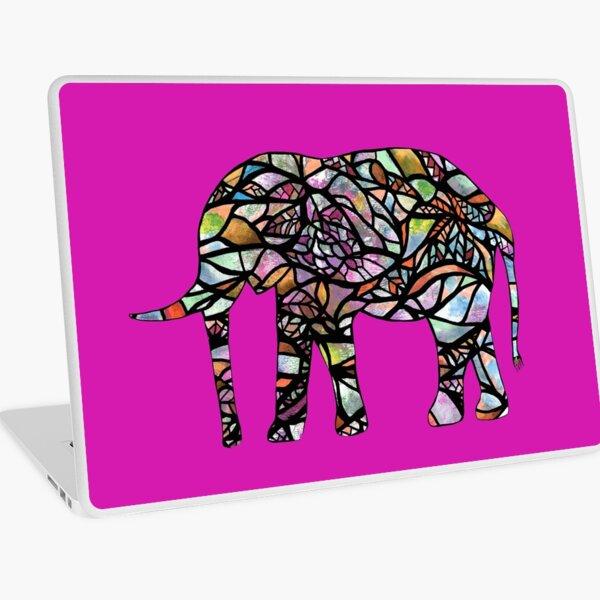Boho Elephant, hand drawn watercolor image. Laptop Skin
