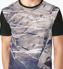 Cracked Rocks Purple Graphic T-Shirt